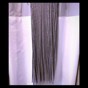 Gray & silver scarf